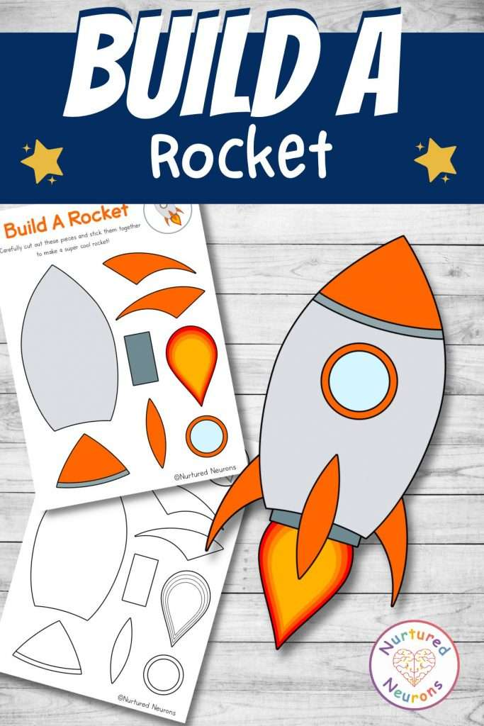 Fun and simple space craft for kids - make an rocket