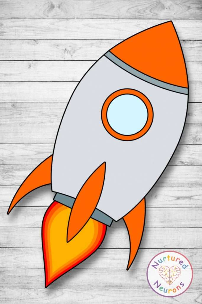 Make a rocket - simple craft for toddlers, preschool and kindergarten kids