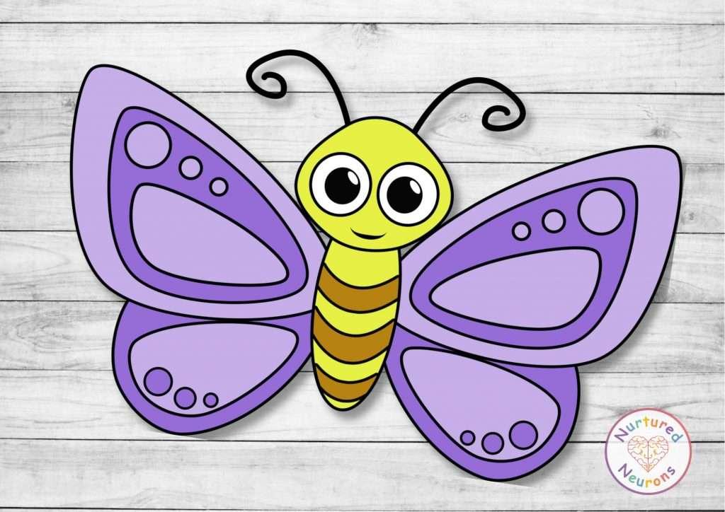 super cute cut and paste bug craft - prek