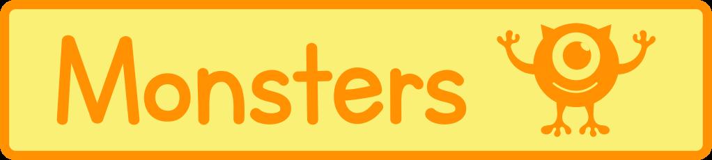 Monster Printables, activities, games and crafts for preschool and kindergarten