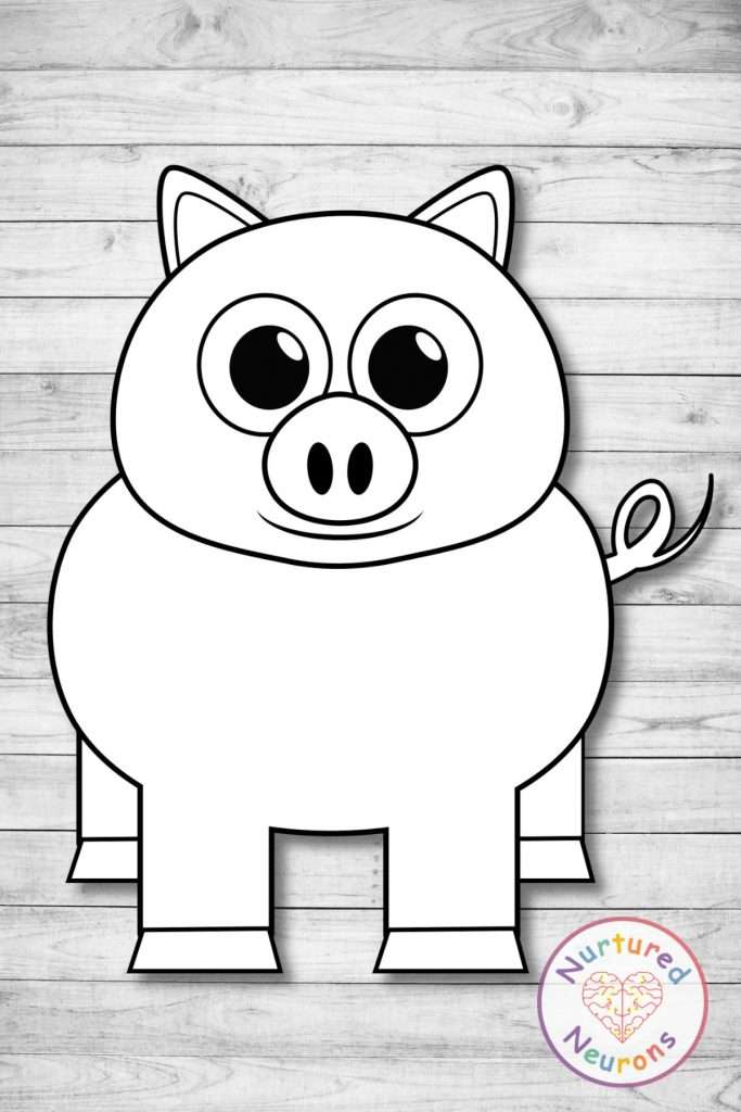 Black and white cow template craft