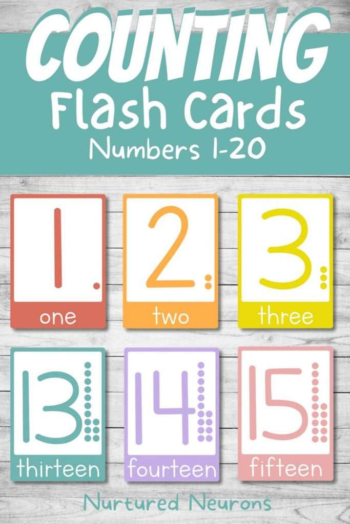 counting flashcards for kids - 1-20