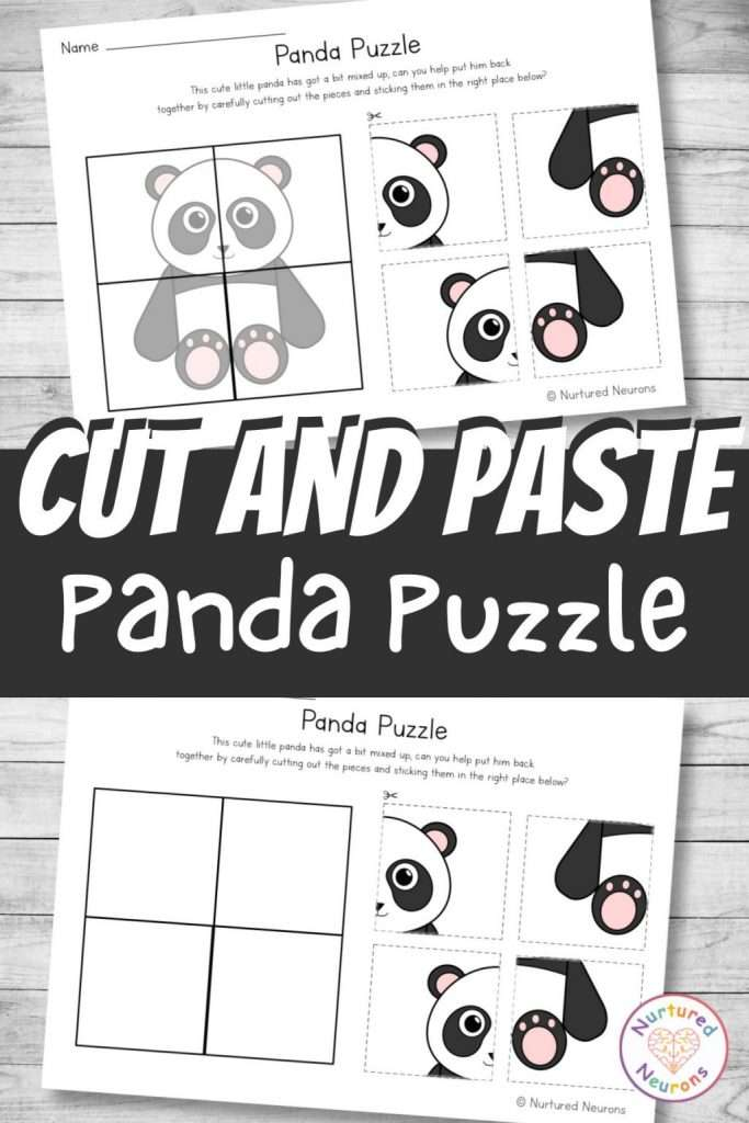 differentiated cut and paste activity for preschool and kindergarten