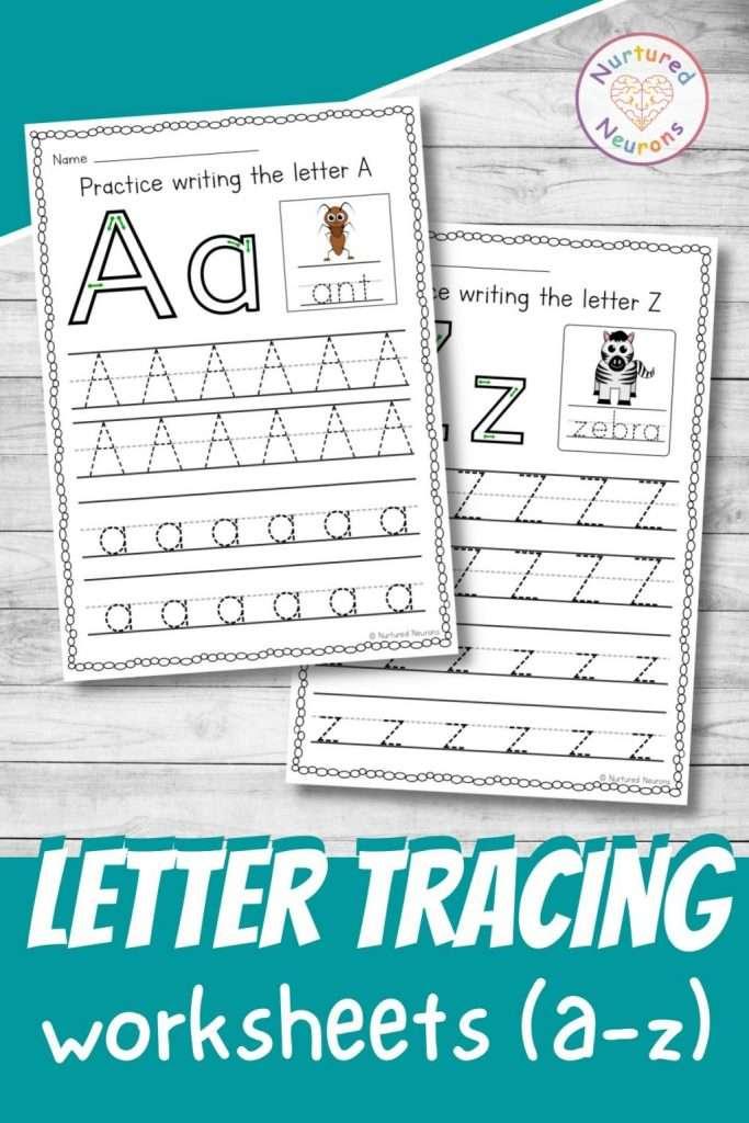 Letter formation worksheets - letter tracing activity for preschool and kindergarten