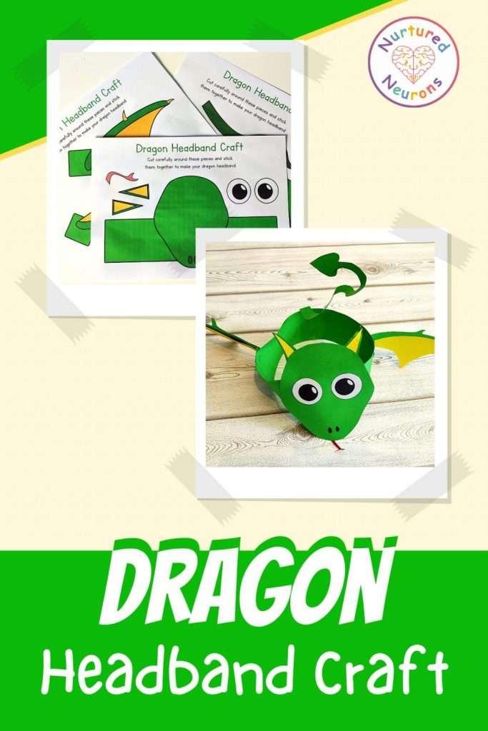Printable dragon hat templates - paper dragon craft for kids