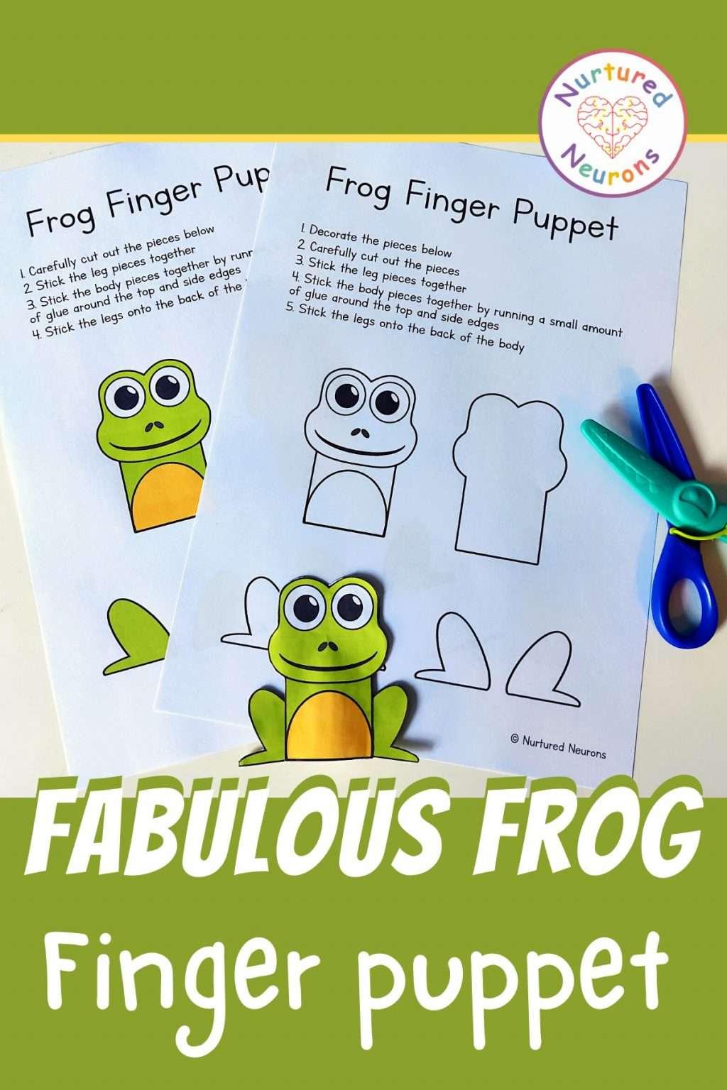 make an frog finger puppet printable paper templates for kids craft