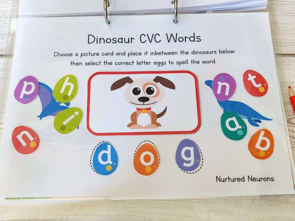 CVC Word Building for those early reading skills