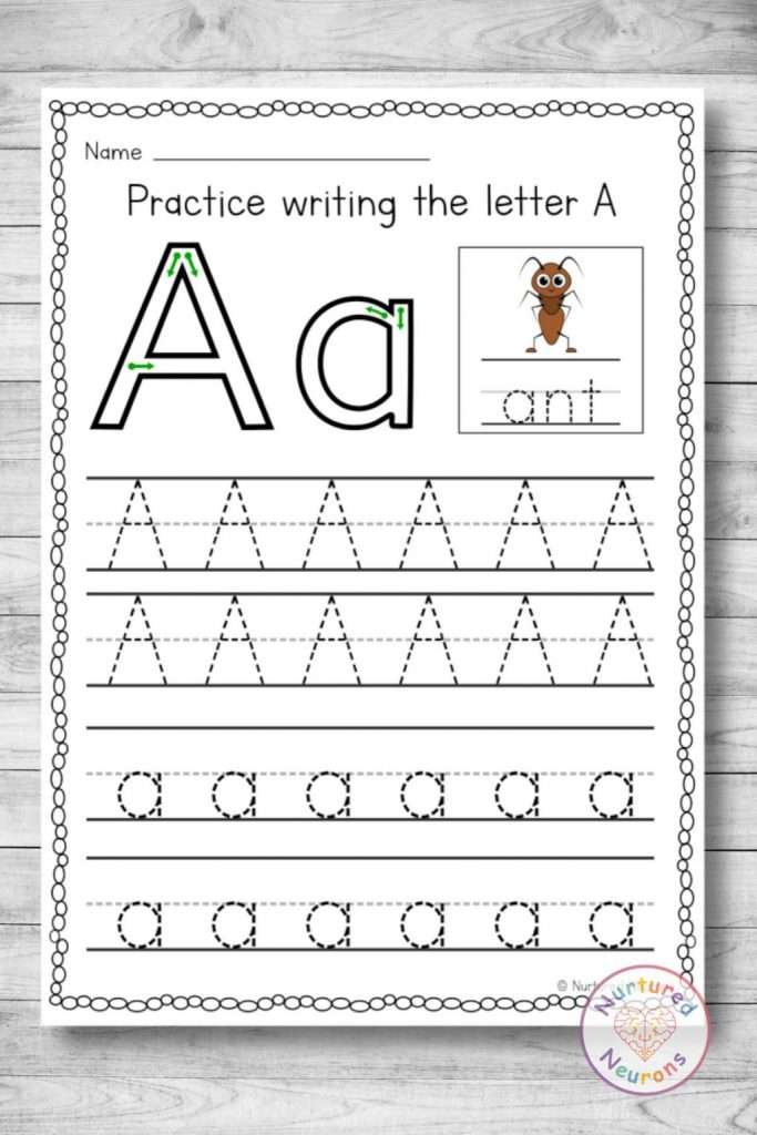 Letter A Tracing Worksheets - letter formation for preschool and kindergarten