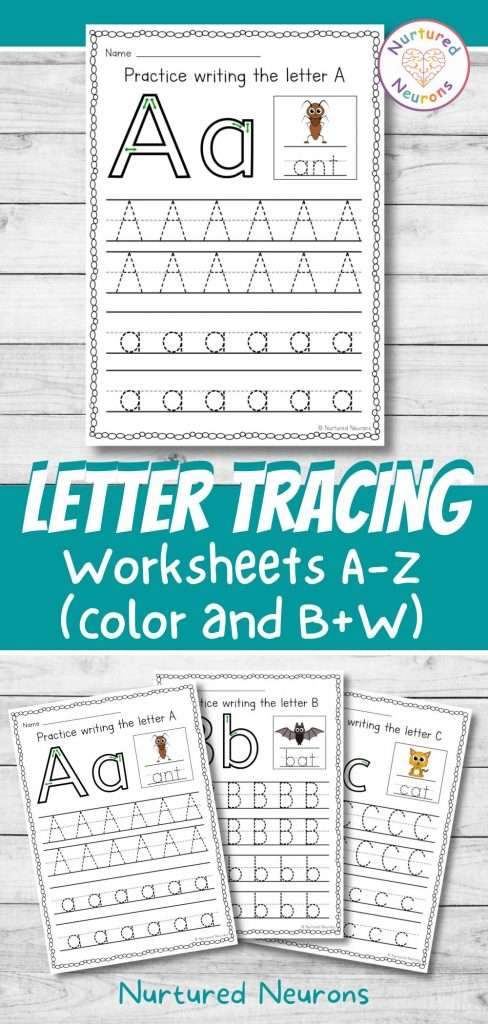Letter Tracing Worksheets - A-Z preschool and kindergarten letter formation practice booklet
