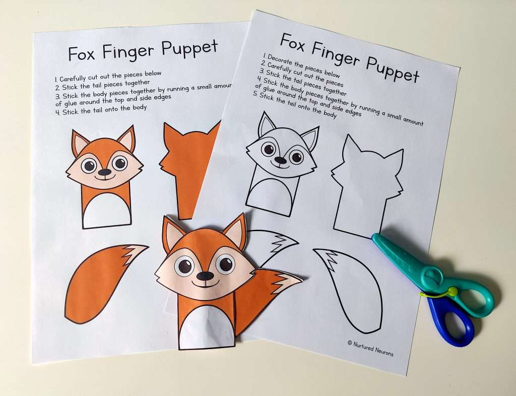 The finger puppet templates