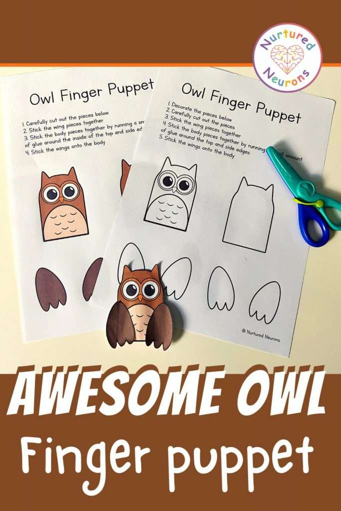 owl puppet templates for a DIY owl craft