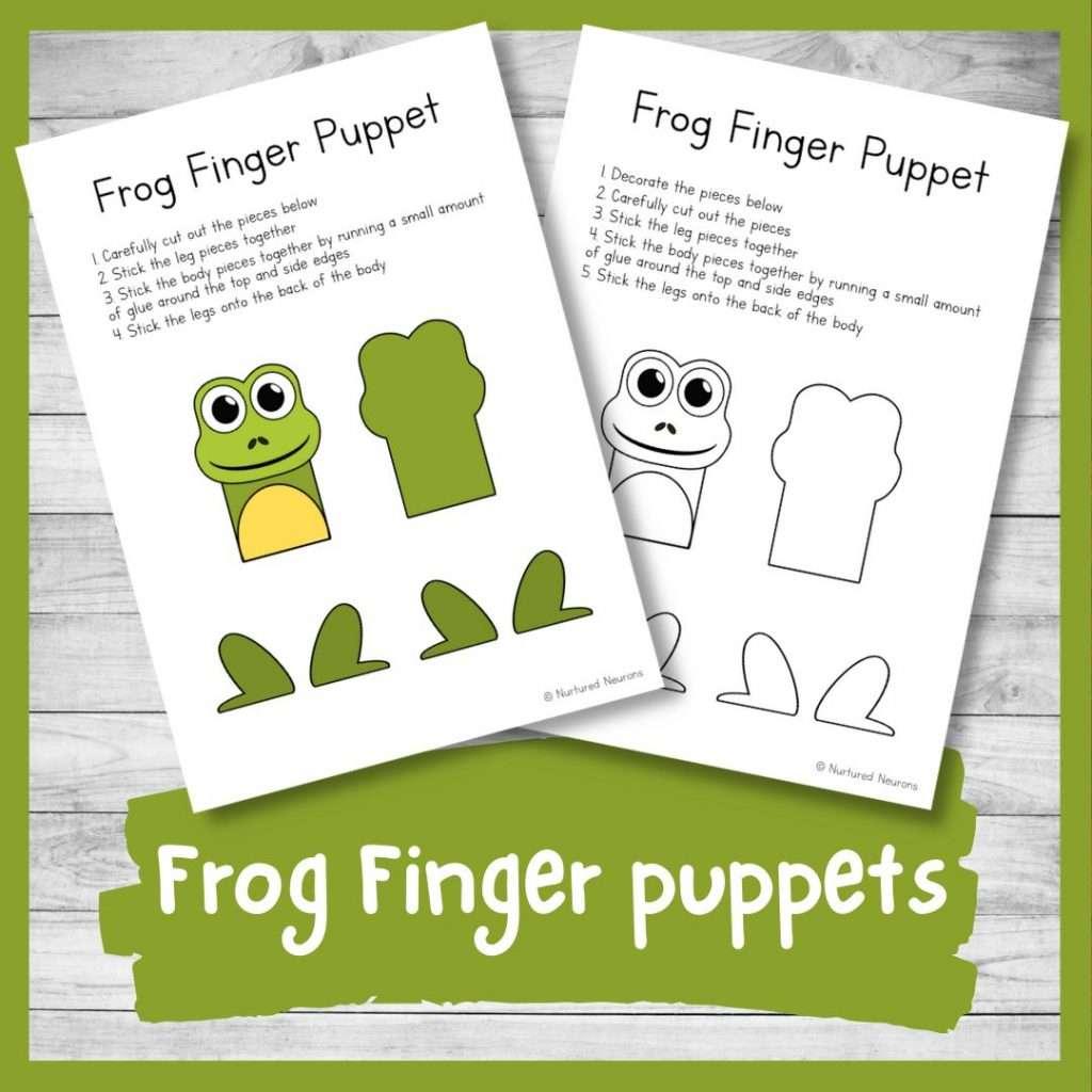 printable frog finger puppets for kids - printable templates