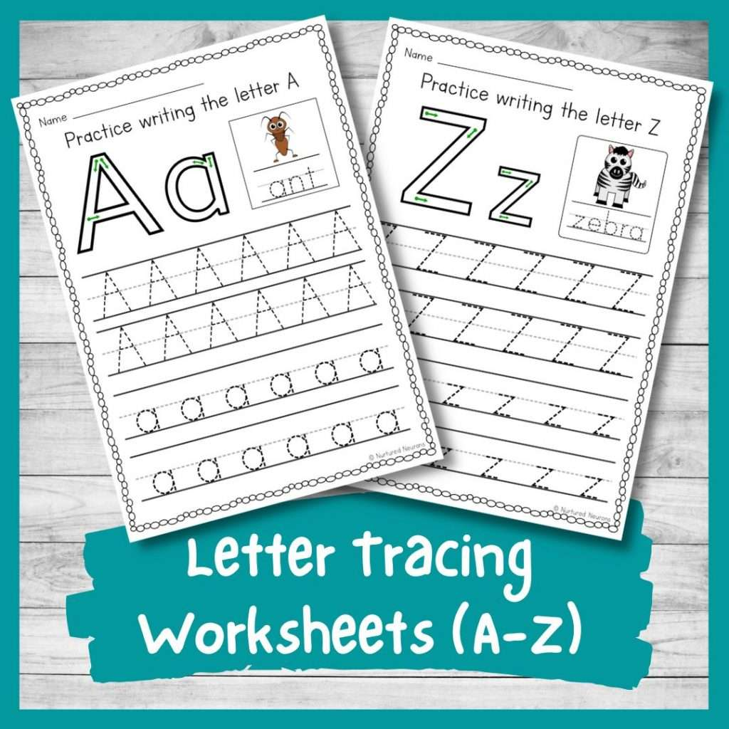 printable letter tracing worksheets a-z letter formation practice sheets