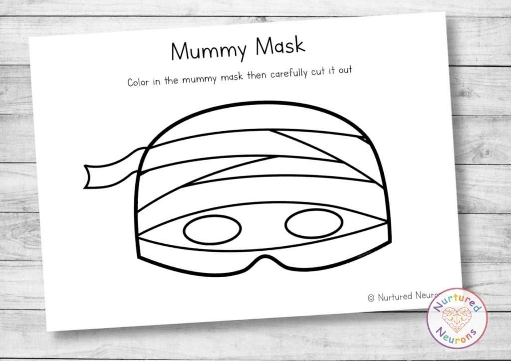Printable Mummy Mask