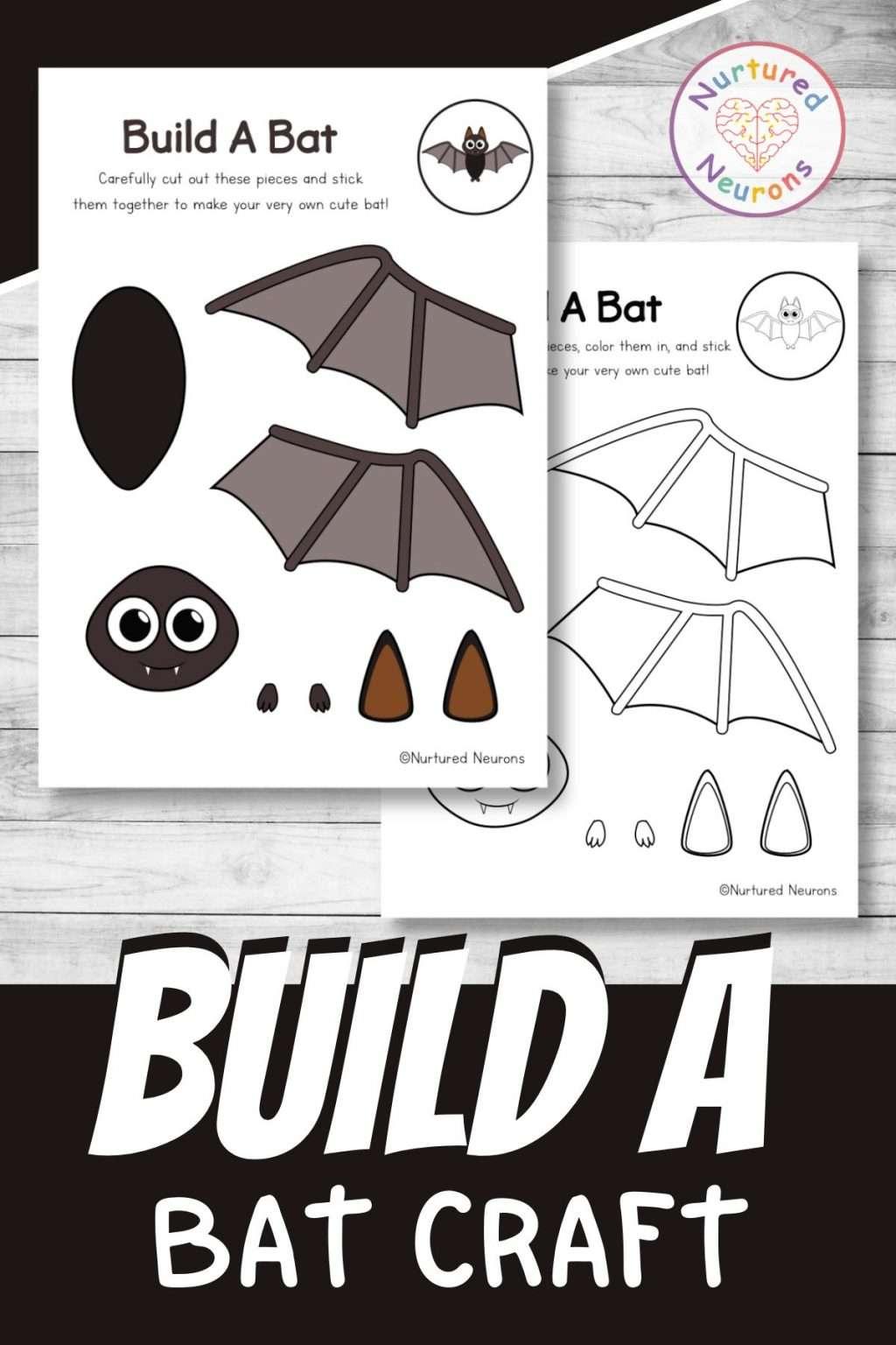 Simple Halloween bat craft for kids