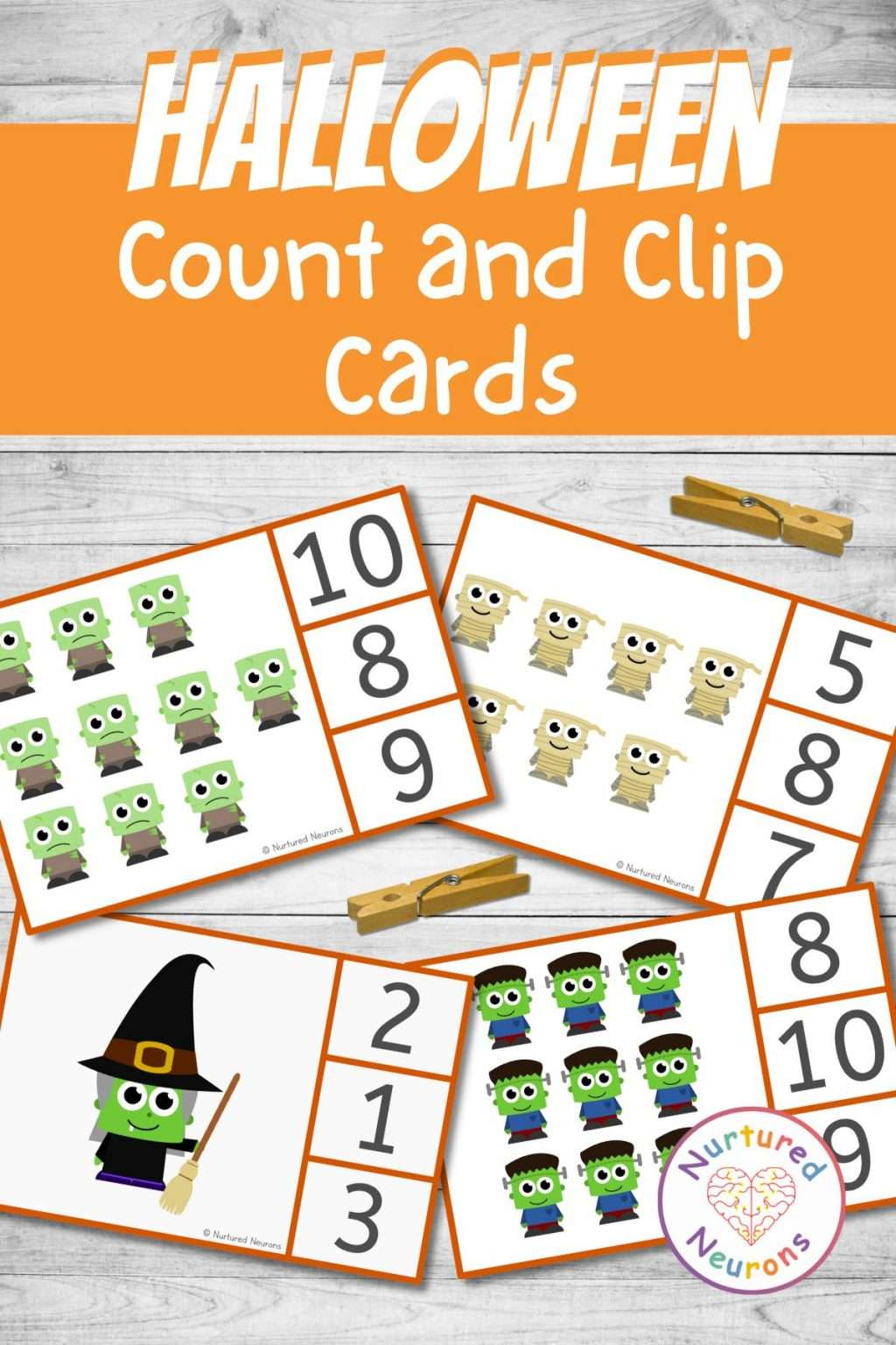 Printablr Halloween math activity for kids, preschoolers and kindergarten