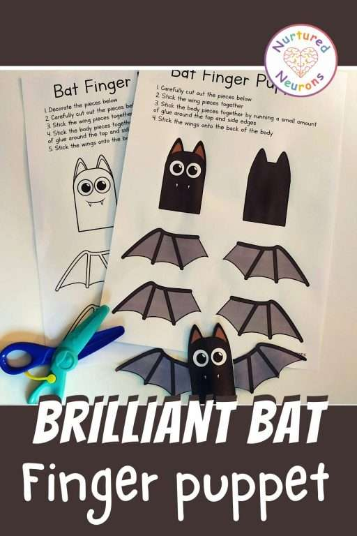 bat finger puppet paper templates