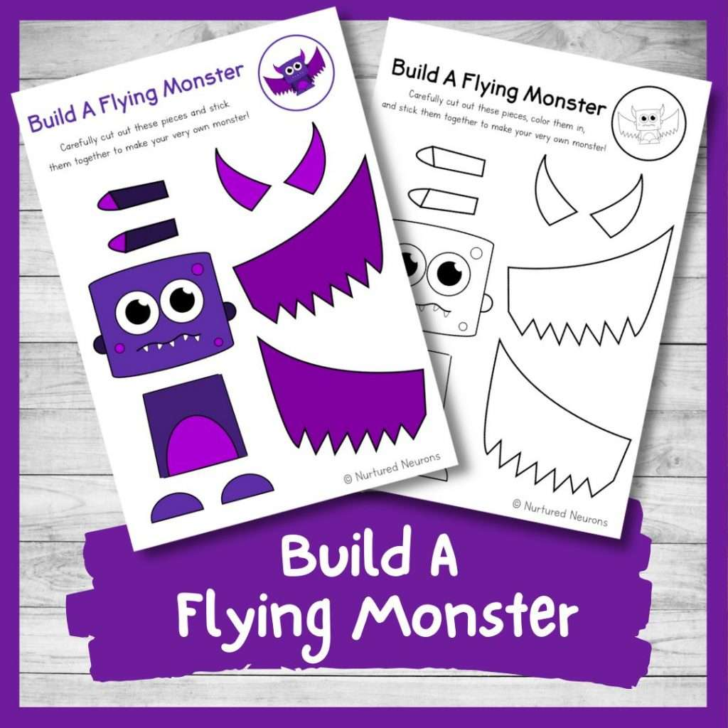 Build a Flying Monster - Halloween activity for kids