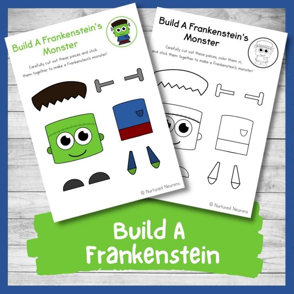 Build a Frankenstein - Halloween activity for kids