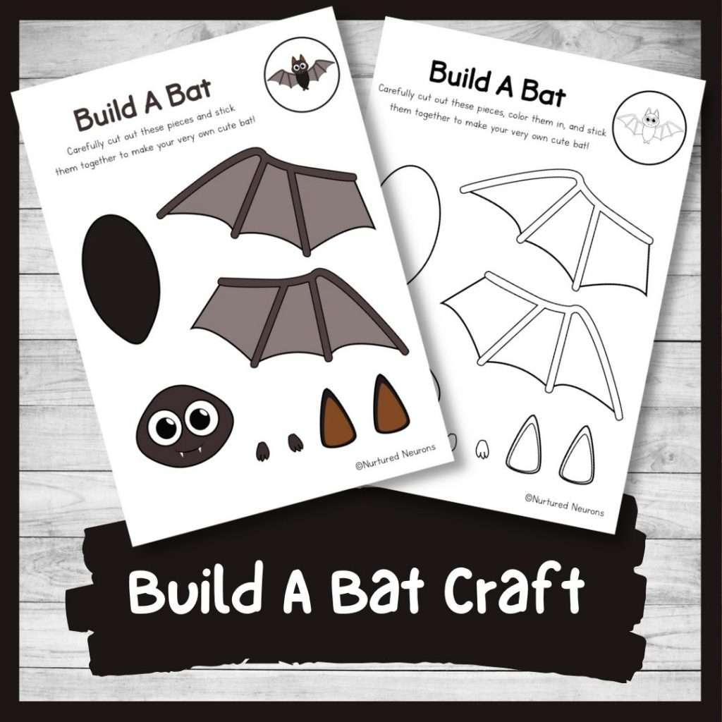 Build a bat craft - Halloween activity for kids