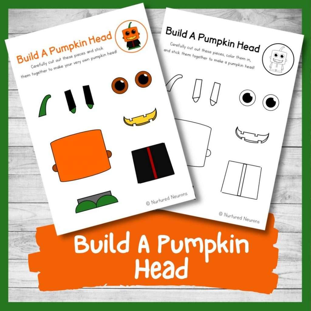 Build a pumpkin craft - Halloween activity for kids