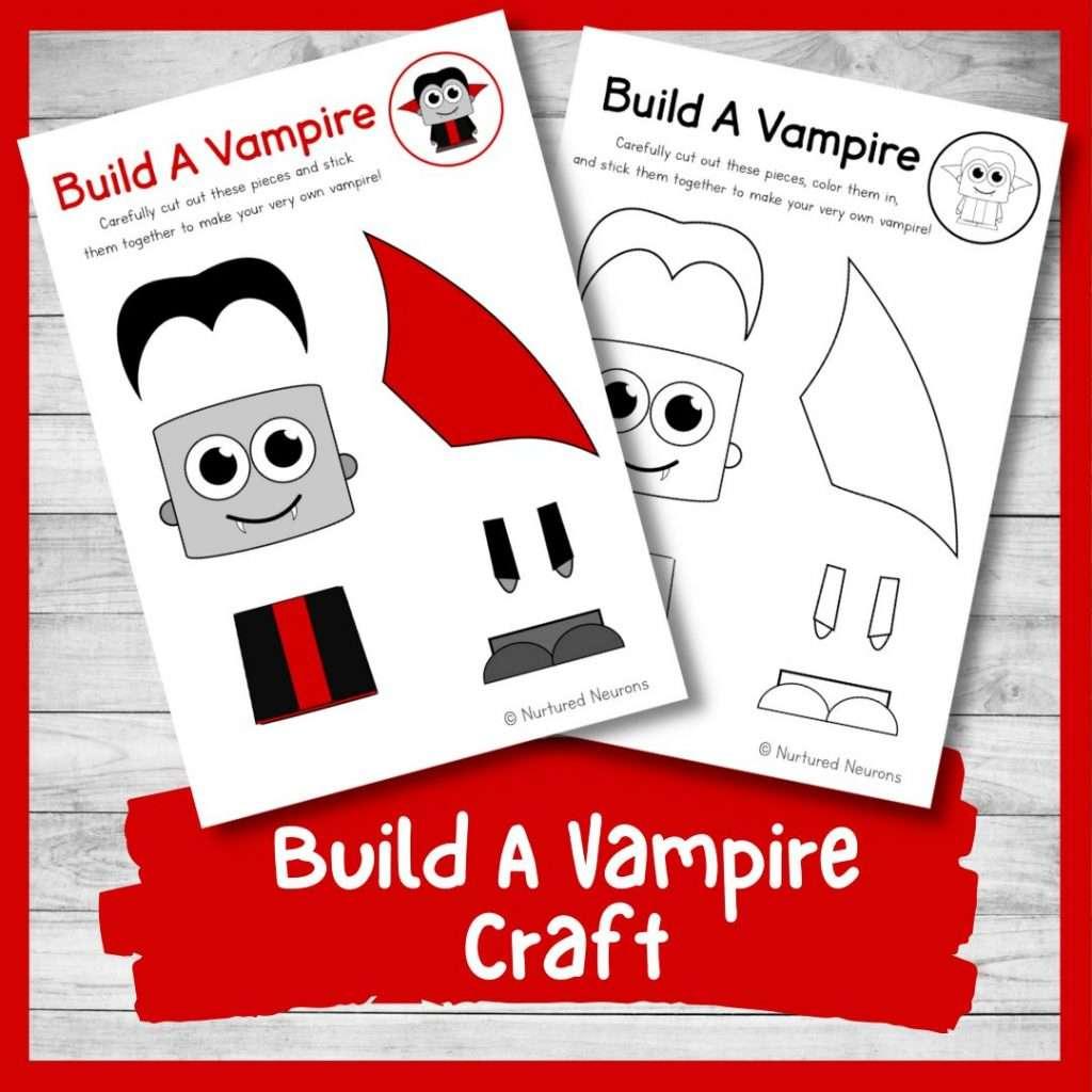 Build a vampire craft - Halloween activity for kids