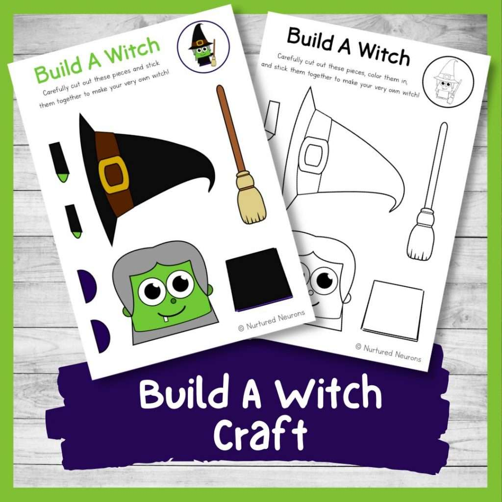Build a witch craft - Halloween activity for kids