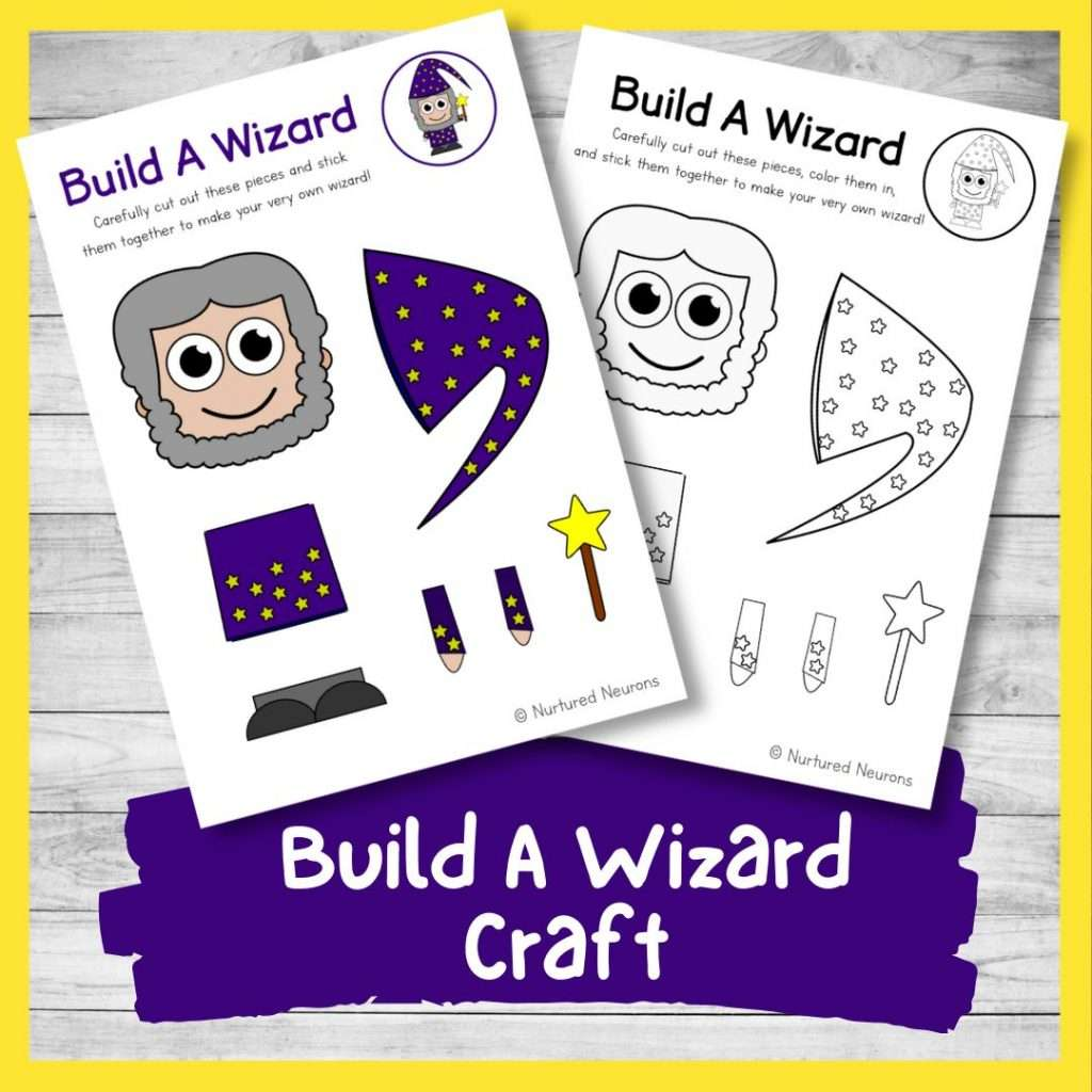 Build a wizard craft - Halloween activity for kids