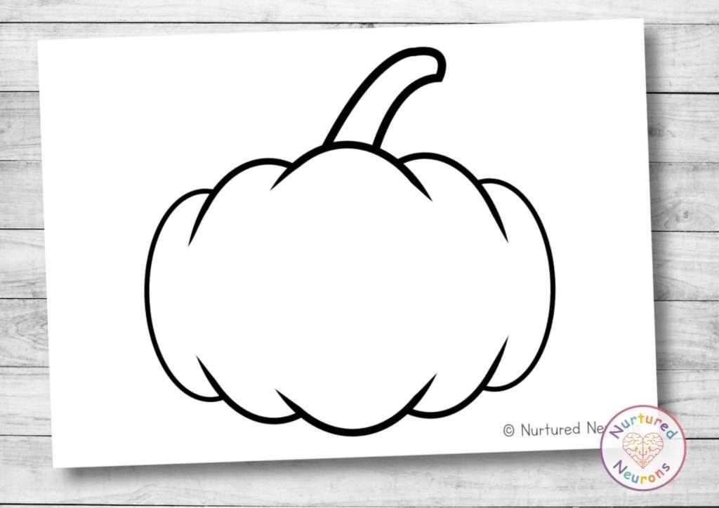 Printable pumpkin template for preschool and kindergarten crafts - Halloween and Fall