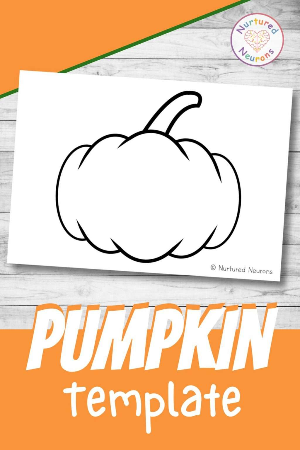 Pumpkin template for Halloween and Fall Crafts
