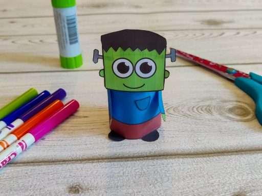printable paper Frankenstein craft for Halloween