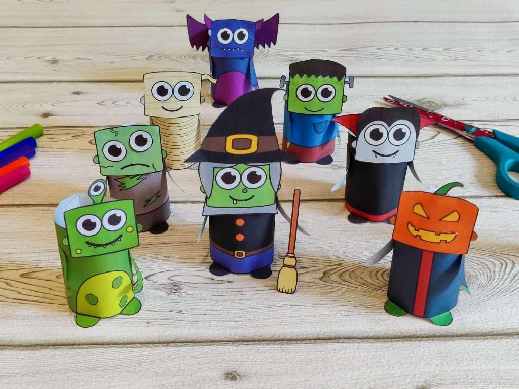 Cute printable Halloween crafts for preschool and kindergarten