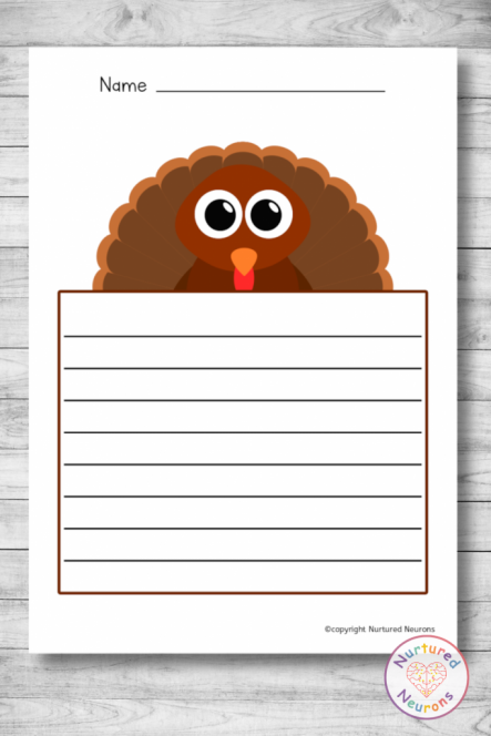 PRINTABLE THANKSGIVING WRITING PAPER PACK (ELEMENTARY WRITING RESOURCE)