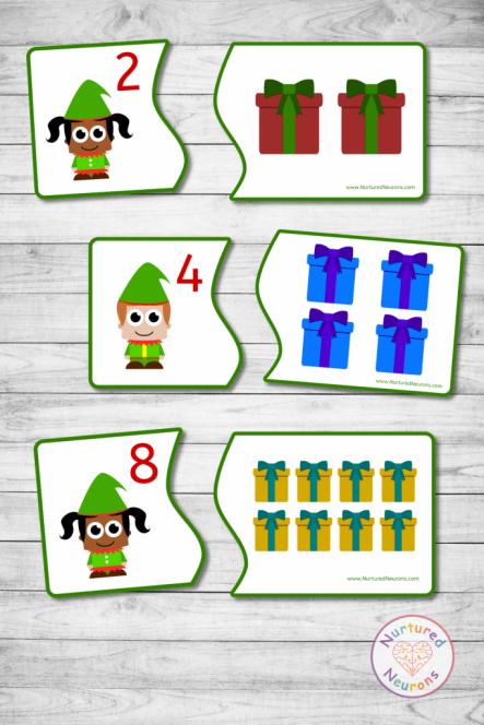 preschool Christmas Elf COUNTING GAME (preschool printable) (2)